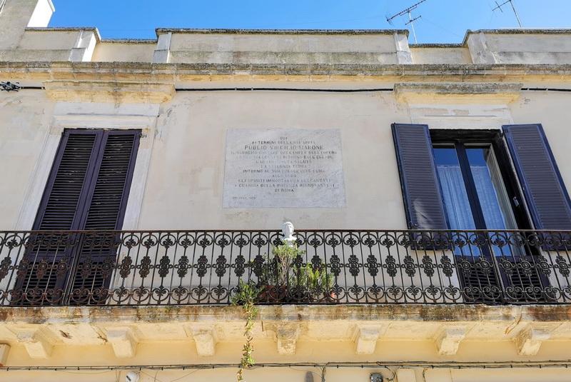 La casa in cui nacque il poeta Virgilio, Brindisi. Foto © Mauro Orrico