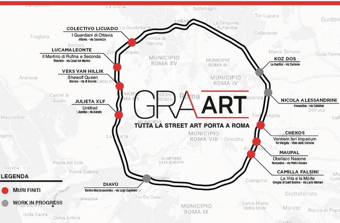 GRAArt, la mappa delle opere
