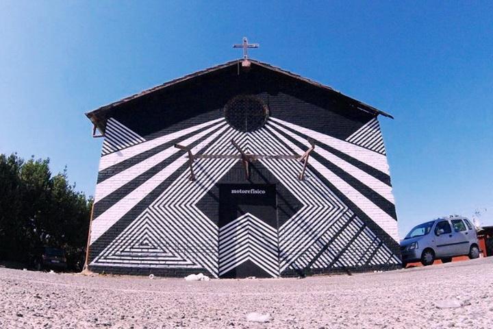 Motorefisico. Chiesa sconsacrata di Vigna Mangani (Pietralata), Roma.