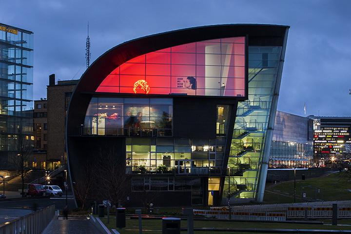Kiasma, il Museo d'arte contemporanea di Helsinki.