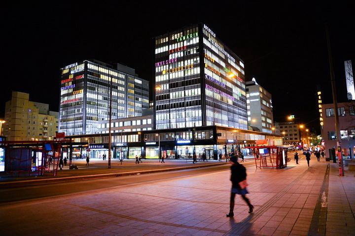 Il centro di Helsinki.