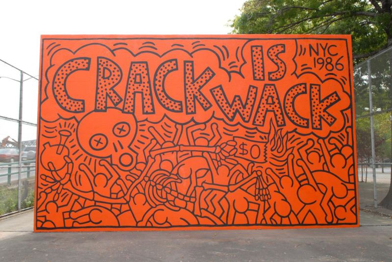 """""""Crack is Wack"""" di Keith Haring (E. 128th St. - Harlem River Drive)"""