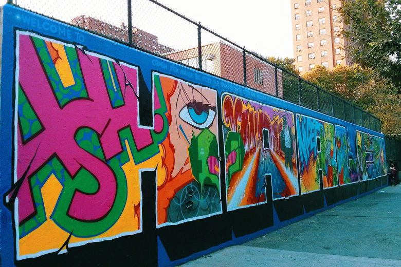 """The Graffiti Hall of Fame"" (Park Avenue, Manhattan New York)"