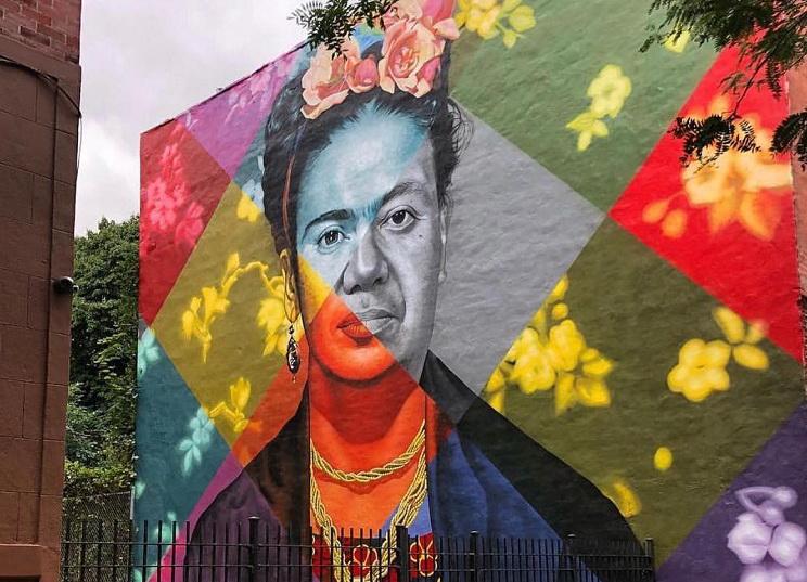 """""""Frida Kahlo e Diego Rivera"""" di Eduardo Kobra (366 Prospect Pl, Brooklyn)"""