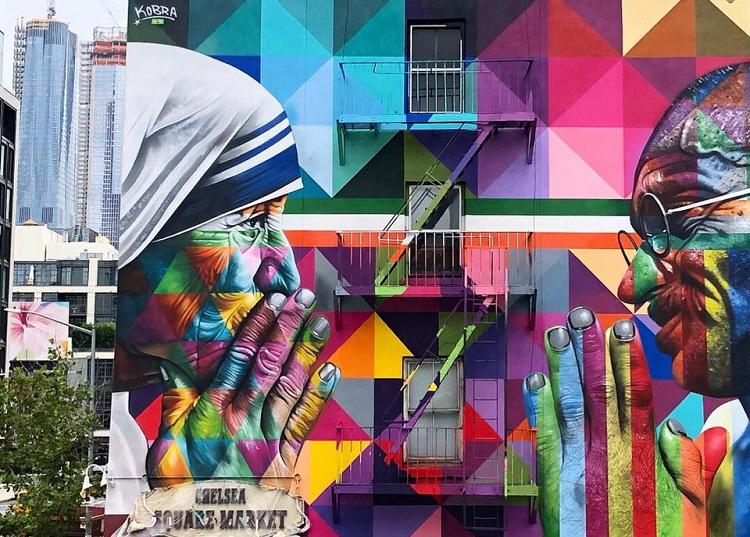 """""""Tolerance"""" di Eduardo Kobra (130 10th Ave)"""