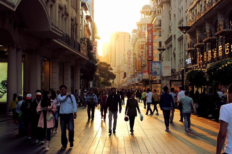 Nanjing Road, Shanghai: Foto: Andreas Kind
