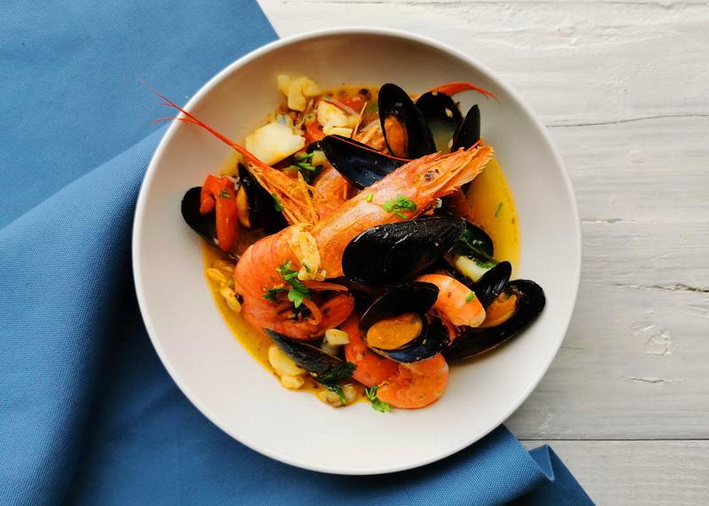 U'ciambott (Zuppa di pesce). Foto © Mauro Orrico